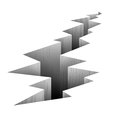 Crack fault line in ground vector illustration Royalty Free Stock Photo