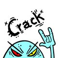 Crack rebel creative design of Stock Photography
