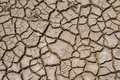 Crack soil on dry season, Global warming / cracked dried mud / D Royalty Free Stock Photo