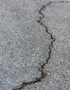 Crack of street line the Royalty Free Stock Image