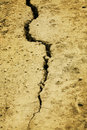 Crack on  surface of  ground Royalty Free Stock Photo