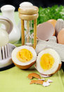 Cracked Boiled Egg Stock Images