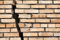 Cracked brick wall Royalty Free Stock Photo