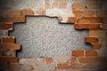Cracked brick wall texture Royalty Free Stock Photo