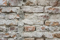 Cracked concrete and Old brick wall background Royalty Free Stock Photo
