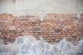 Cracked Concrete Vintage Brick...