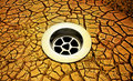 Cracked Earth Climate Change Drain