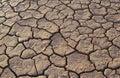 Cracked earth in desert full frame Royalty Free Stock Photo