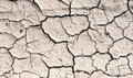 Cracked earth lifeless soil drying under ardent sun macro Royalty Free Stock Photography