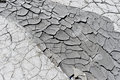 Cracked earth near mud volcanoes Royalty Free Stock Photo