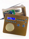 Cracked isolated digital radio Stock Photo