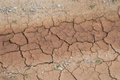 Cracked land caused by drought Stock Photo