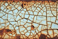 Cracked Paint on Rusty Metal Royalty Free Stock Photo