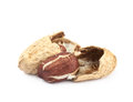 Cracked peanut isolated Royalty Free Stock Photo