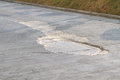 Cracked road concrete layer on the Royalty Free Stock Photos