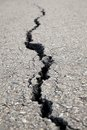 Cracked road generate from nature Royalty Free Stock Photography