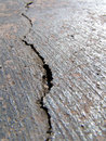 Cracked road II Stock Photo