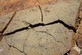 Cracked stone texture closeup - rock crack Royalty Free Stock Photo