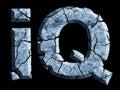 Cracked symbol Intelligence quotient.