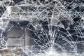 Cracked vehicle windscreen Stock Photos