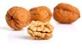 Cracked walnut Royalty Free Stock Photo