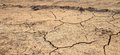 Cracked waterless ground. Natural disasters Royalty Free Stock Photo