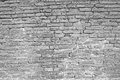 Cracked white brick wall Royalty Free Stock Photo