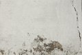 Cracked White Brick Wall Fragment Royalty Free Stock Photo