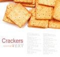 Cracker or biscuit isolated on white Royalty Free Stock Photo
