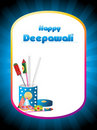 Cracker box concept greeting card for happy diwali Royalty Free Stock Photo