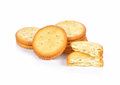 Cracker cookie on white background Royalty Free Stock Photo