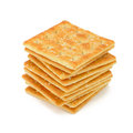 Cracker isolated on white background Stock Photos