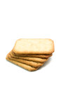 Cracker isolated on white background Royalty Free Stock Photography