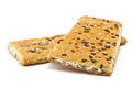 Crackers cracker with sugar sesame and sunflower seeds Stock Images