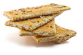 Crackers cracker with sugar sesame and sunflower seeds Stock Photo