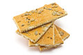 Crackers cracker with sugar sesame and sunflower seeds Royalty Free Stock Photos