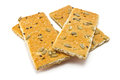Crackers cracker with sugar sesame and sunflower seeds Stock Photos