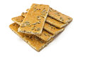 Crackers cracker with sugar sesame and sunflower seeds Royalty Free Stock Photo