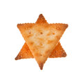 Crackers isolated in shape of a star Stock Photos