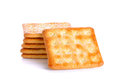 Crackers with sugar isolated on the white background Royalty Free Stock Photo