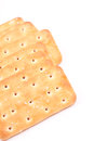 Crackers with white text space Stock Photos
