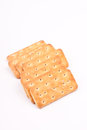 Crackers with white text space Royalty Free Stock Photos