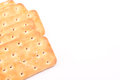 Crackers with white text space Royalty Free Stock Images