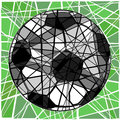 Cracking football editable vector mosaic design of a soccer ball Stock Images