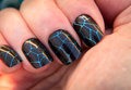 Crackle Nail Art Royalty Free Stock Photo