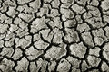 Cracks bottom lake drought Royalty Free Stock Images