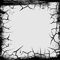 Cracks grunge square shape