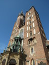 Cracovie, la basilique de Mary de saint Photo stock
