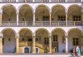 Cracow krakow wawel castle arcaded ambulatory poland royal chambers inner renaissance courtyard Royalty Free Stock Photos