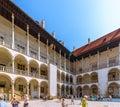 Cracow krakow wawel castle arcaded ambulatory poland royal chambers inner renaissance courtyard Stock Images